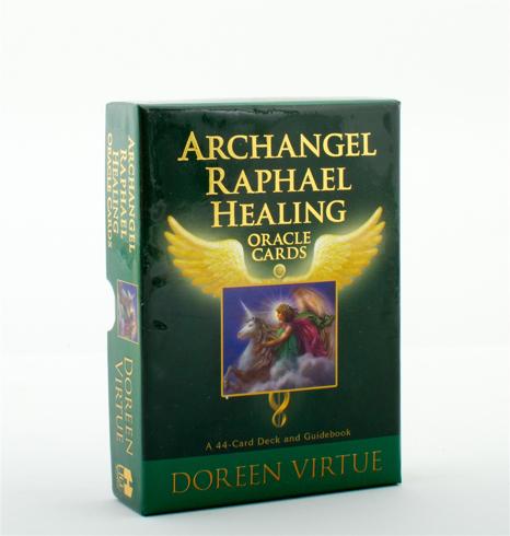 Bild på Archangel raphaels healing oracle cards