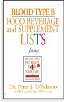 Bild på Blood Type B: Food, Beverage & Supplement Lists