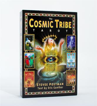 Bild på Cosmic Tribe Tarot (Book With 90 B&W Illustrations; 80 Card,