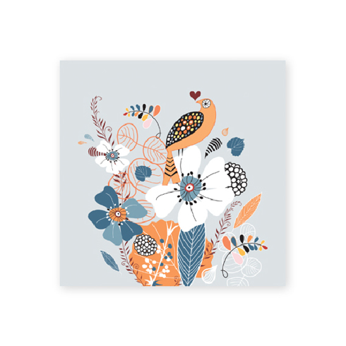 Bild på Fantasia: orange bird mini