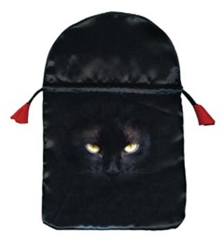 """Bild på Printed satin """"Black Cat"""""""