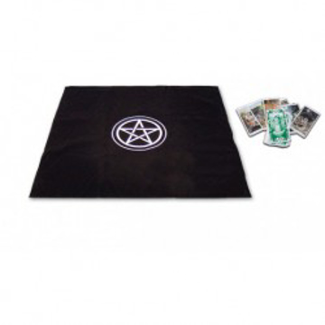 Bild på Tarot cloth pentacle  black tp02