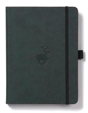 Bild på Dingbats* Wildlife A4+ Green Deer Notebook - Dotted