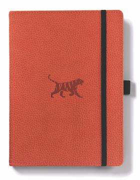 Bild på Dingbats* Wildlife A5+ Orange Tiger Notebook - Plain