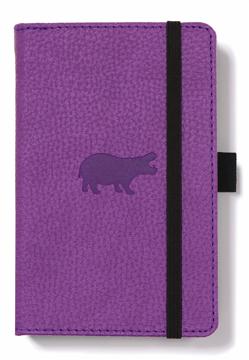 Bild på Dingbats* Wildlife A6 Pocket Purple Hippo Notebook - Dotted