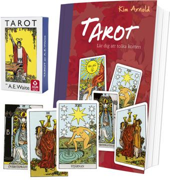 Bild på Tarotpaket: Tarot bok + Waite svensk tarot (pocket)