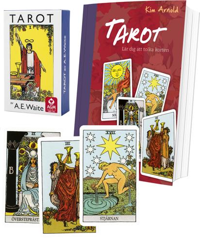 Bild på Tarotpaket: Tarot bok + Waite svensk tarot (standard)